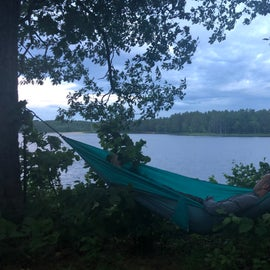 Hammock with a view.