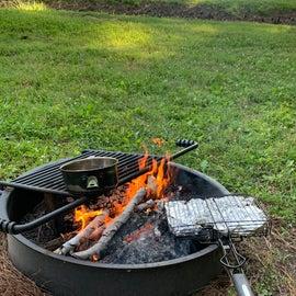 Hobo Packs for Dinner with Tea Boiling