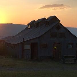 The bathhouse @ sunset.
