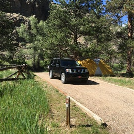 Campsite view from loop entrance