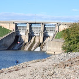 The spillway at Lake Shelbyville