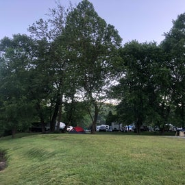 View of campground from the river