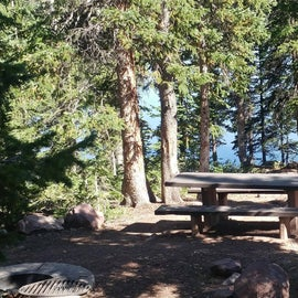 campground view of the lake
