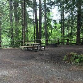 campsite overlooking the creek