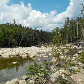 A short walk from the campground is the pristine Wild River