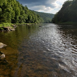 Clarion River from the paddle-in sites