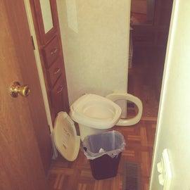 Tiny broken toilet