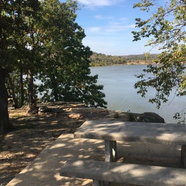 The campsites near the entrance are up on a bluff with great views of the lake