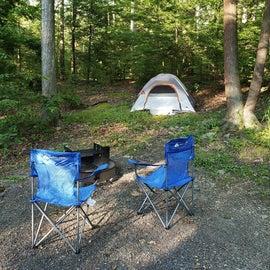 Our tent setup