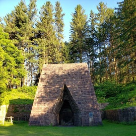 The furnace at the state park - a short walk from the campground