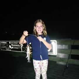 Night fishing on the pier