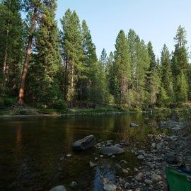 The river from our camp's shore