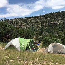 Clean camp site