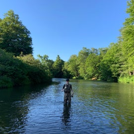 Fly fishing in the Clarion