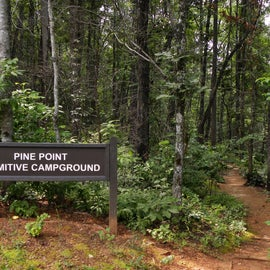 This is the trailhead to the campsites from the parking lot.