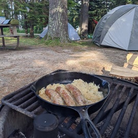 Dinner from the fire ring - Lodge Campground site 79