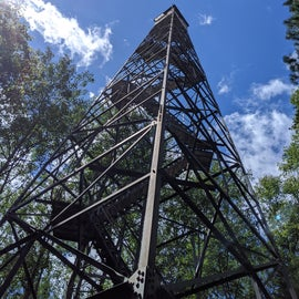 Firetower after a wooded 1 mile hike