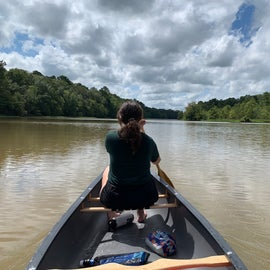 Canoeing a secluded area of Woodruff Lake