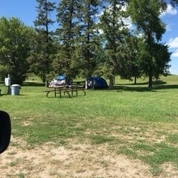 Tenting area in a nice grassy shady spot