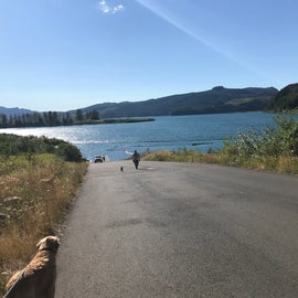 Paved Boat launch into Riffe lake