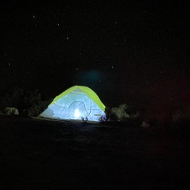 The Big Dipper over our tent!