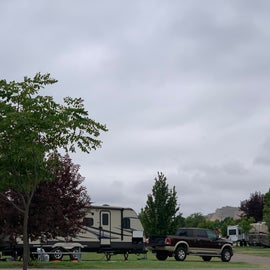 You can see the Scotts Bluff National Monument from the RV Park.
