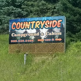 Huge sign just a few feet off the road so you can't miss it.