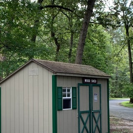 Wood shed for fire wood
