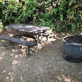 table and fire pit