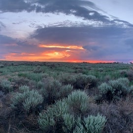 Sunset on the plains of south eastern Colorado.