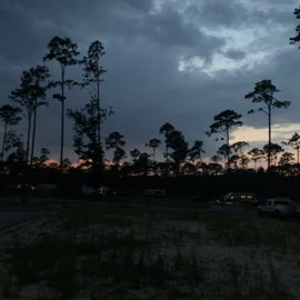 Dusk at the RV park - not a lot of trees.