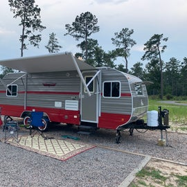Large RV sites - not a lot of privacy.