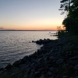 Sunset view from site