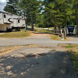This is a typical site at this campground.  Unlike ours in B loop, this one in A loop was a little more level.