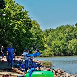 Fishing is another popular activity at Staunton River State Park.