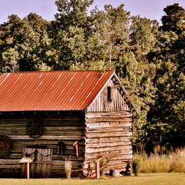 There was an old historic barn behind the visitor's center.
