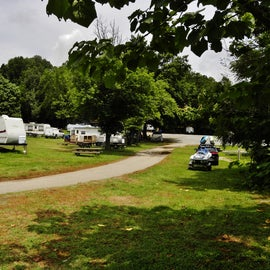 Here is a view of some of the short-term campsites.