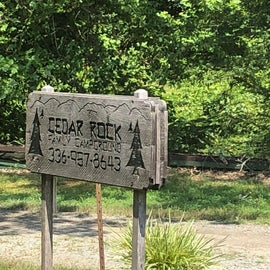 This is the actual campground sign - most people will turn in to the left just past the sign.