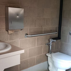 Accessible bathrooms with showers