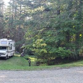 Site 25  Aroostock State Park Accessible campsite