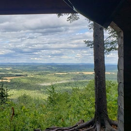 View from the lean-to Aroostock State Park