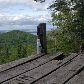 Tent platform on south peak