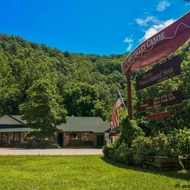 Historic LVC general store with camping supplies, groceries, local arts and crafts, friendly folks