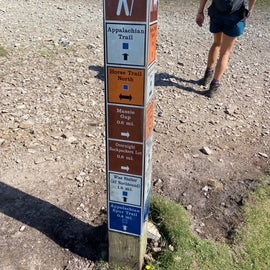 That's one busy signpost. As stated in the narrative...miles and miles of great trails.