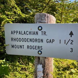 Signposts are at every junction or crosstrail.