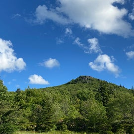A view of Pinnacle Peak from the Park roadway