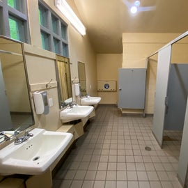 Men's restroom with solitary shower.