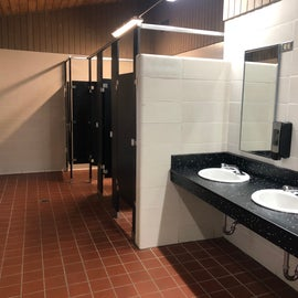 The bathrooms were exceptionally clean