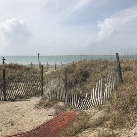 Looking from the lighthouse keepers cabin across the bay (10 mile beach or dune road drive from cabins)