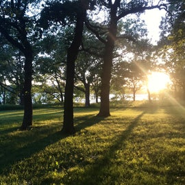 Sunset views near the main campground
